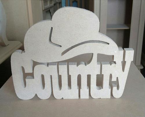 palavra country mdf
