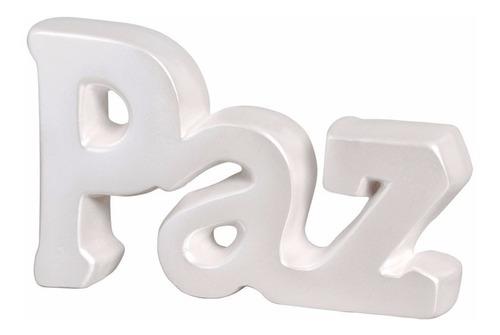 palavra paz para decoração e presente criativo em cerâmica