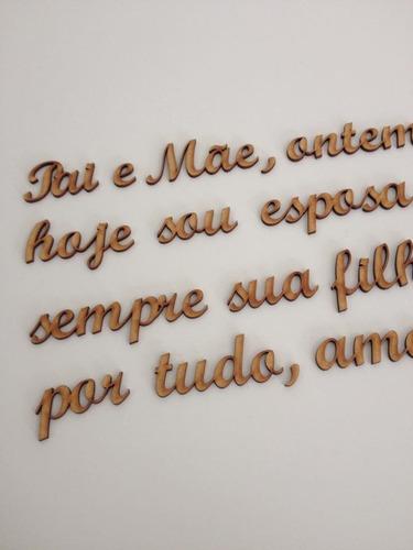 palavras e frases mdf cada 10 letras 15 cm altura