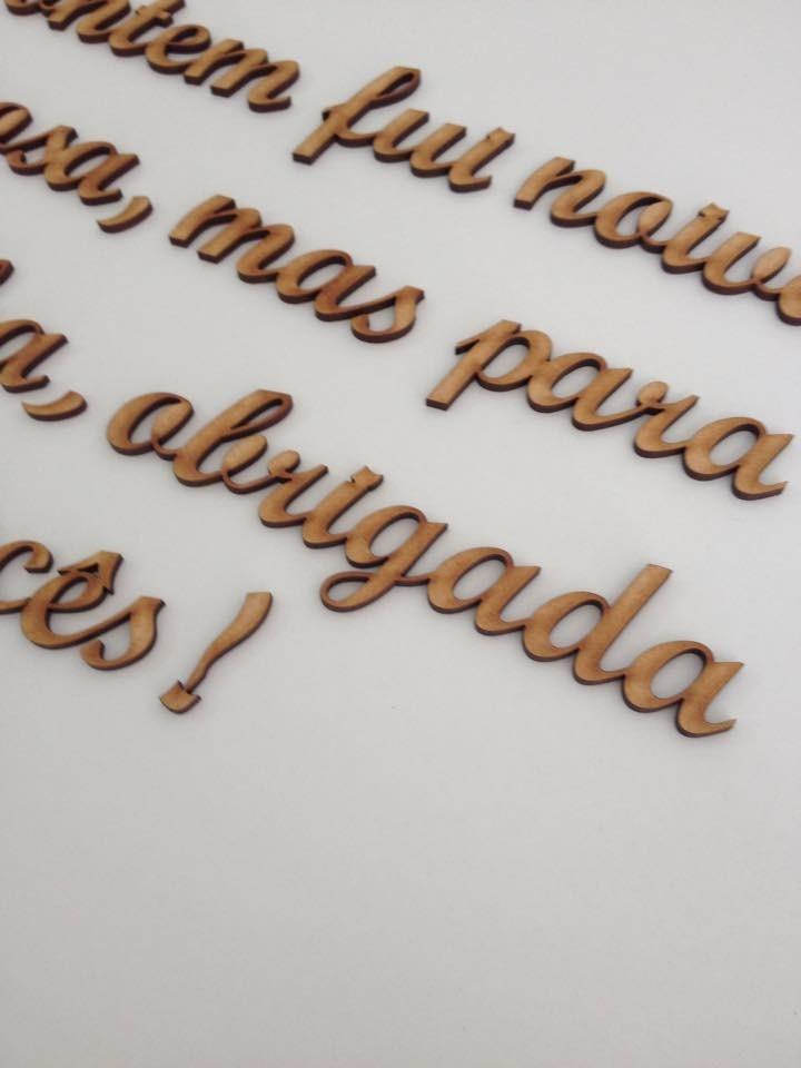Palavras E Frases Mdf Cada 3 Letras 7cm Altura R 600 Em Mercado
