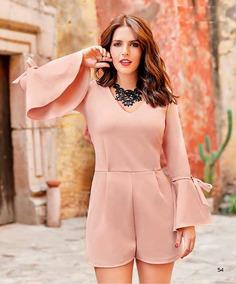 moda atractiva envío directo Boutique en ligne Palazzo Mangta De Campana Color Palo De Rosa 95% Poliester