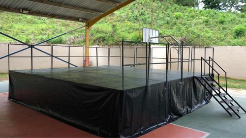 palco móveis carreta reboque 7x6 40 minutos para montagem