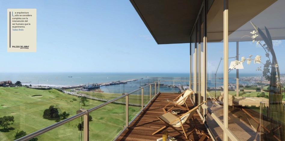 palcos del golf - unidades 3 y 4 ambientes. cocheras y bauleras. vista al mar. amenities
