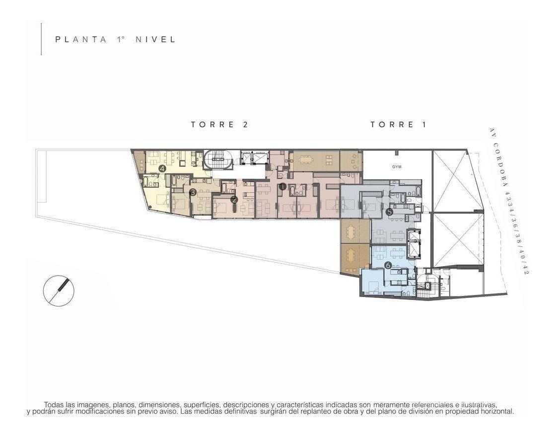 palermo - departamento apto profesional en venta de 2 ambientes - en construccion