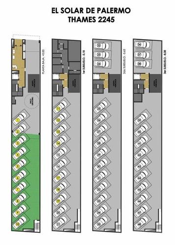 palermo, en pozo, opcion 3 ambientes en duplex