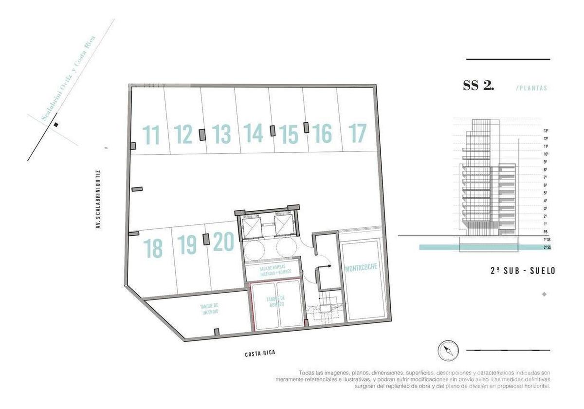 palermo soho - departamento en venta de 2 ambientes en construccion