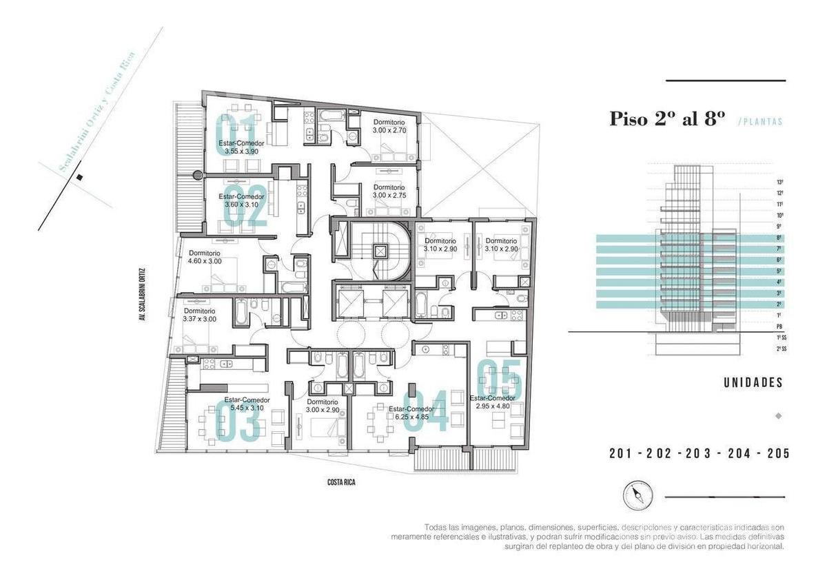 palermo soho - departamento en venta de 3 ambientes en construccion
