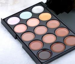 paleta 15 cores de base e corretivo - produto novo