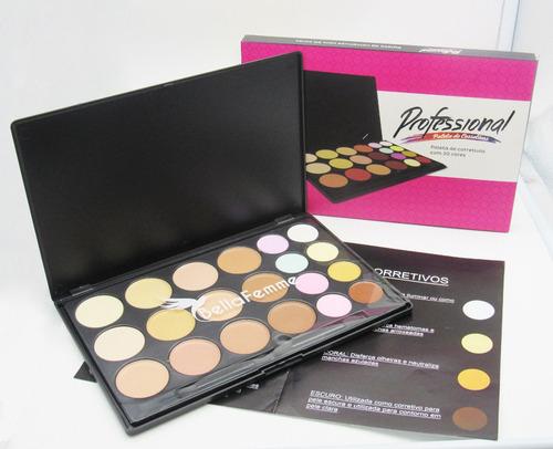 paleta corretivo 20 cores kit maquiagem profissional grande