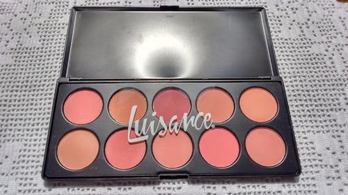 paleta de blush 10 cores luisance - lançamento