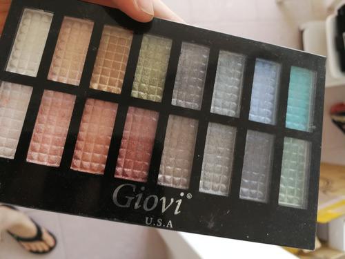 paleta de maquillaje sombras marca giovi