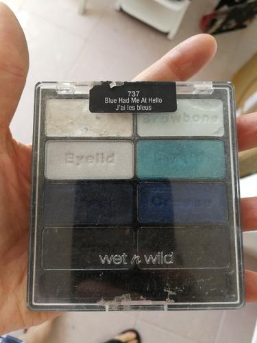 paleta de maquillaje sombras marca wet and wild