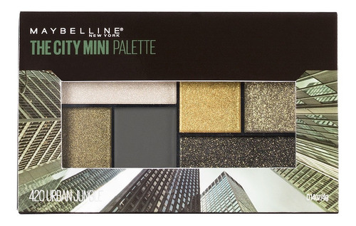 paleta de sombras city mini palette 6 tonos maybelline