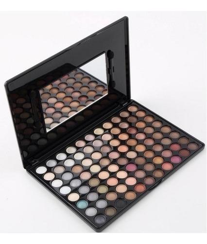 paleta de sombras importada - 88 cores + brinde (pincéis)