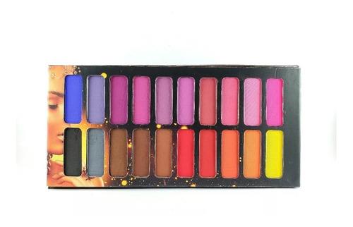 paleta de sombras matte ludurana 20 cores