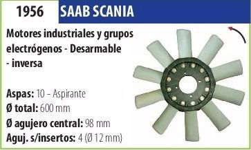 paleta de ventilador motores industriales y grupos electroge