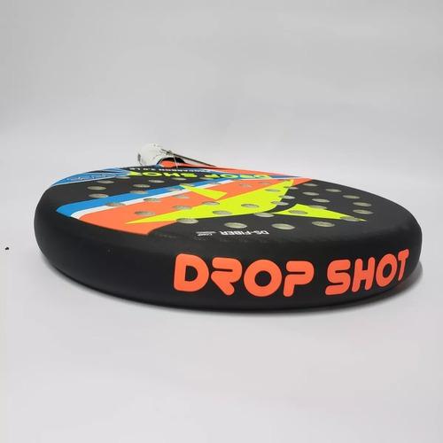 paleta drop shot pro carbon+funda+cubre gips