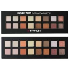 paleta harvest moon  city color  sombras para ojos