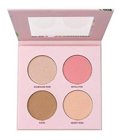 paleta iluminador blush pó ruby rose cheek glow kit hb-7506