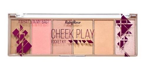 paleta iluminadora pocket cheek play blush contorno rubyrose