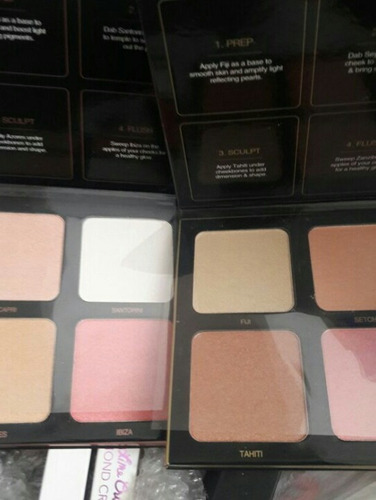 paleta iluminadores huda beauty highlighter efecto 3d