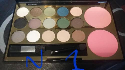 paleta lancome set de maquillaje 15 sombras y 2 rubores