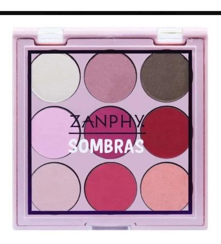paleta linha sombra 9 cores zanphy