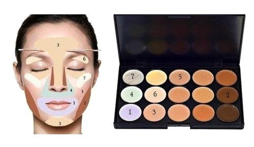 paleta maquillaje 15 tonos x 6 unidades al por mayor
