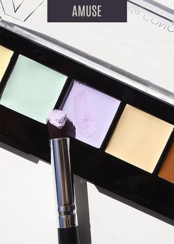 paleta maquillaje 5 tonos corrector contorno iluminador