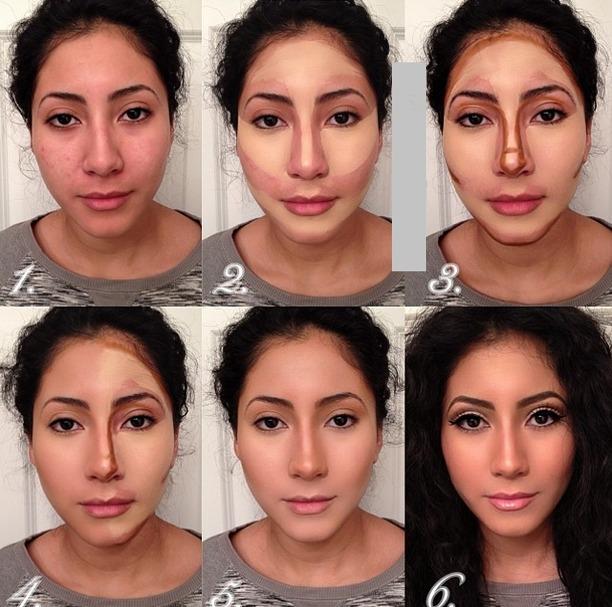 maquillaje con contorno