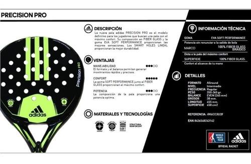 paleta padel adidas precision pro eva soft + regalo - olivos