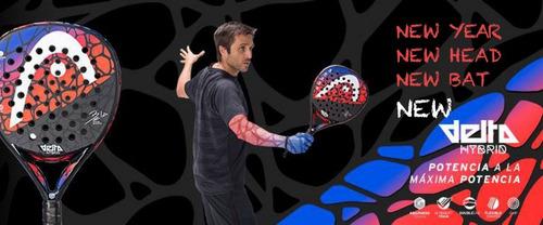 paleta padel head delta hybrid touch bela + regalos - estacion deportes olivos