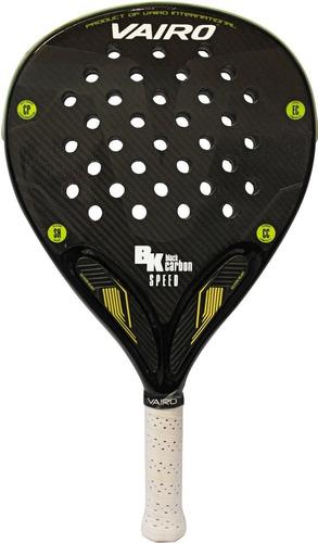 paleta padel vairo black carbon speed paddle - olivos