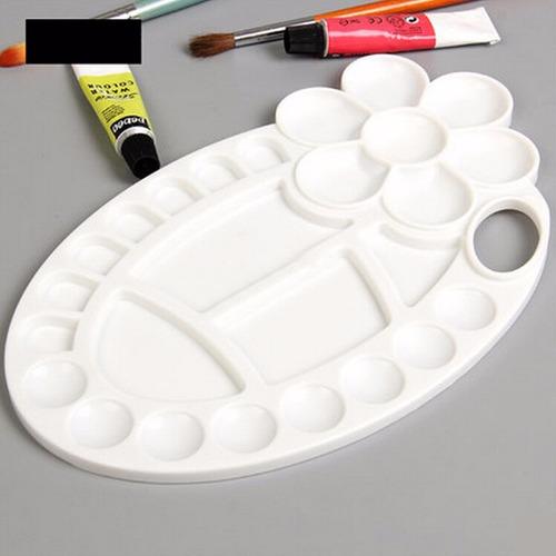 paleta para pintar oleo + pincel para acuarela