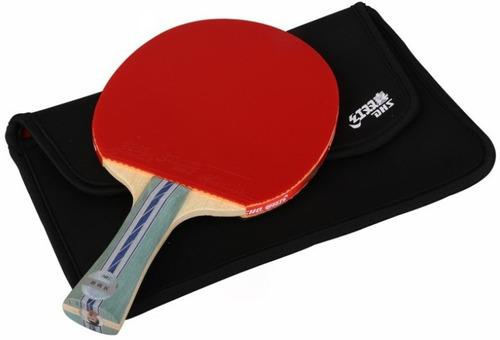 paleta ping pong dhs 5002c carbon + funda - olivos
