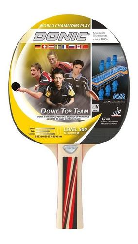 paleta ping pong donic schildkrot top team 500 tenis mesa madera vario goma 1.7mm