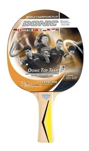 paleta ping pong donic top team level 200 madera cuotas