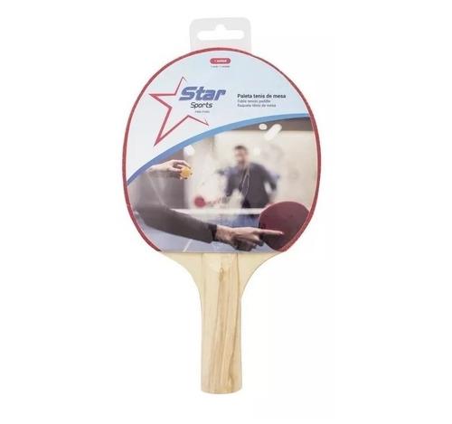 paleta ping pong madera tenis mesa 1 estrella star sport