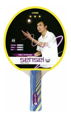 paleta ping pong sensei 3 estrellas línea profesional top