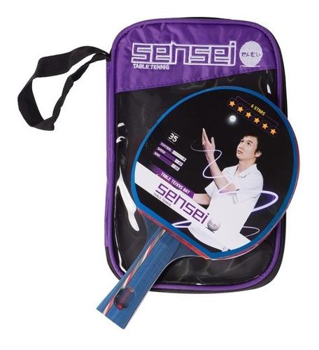 paleta ping pong sensei 6* estrellas + funda - competicion