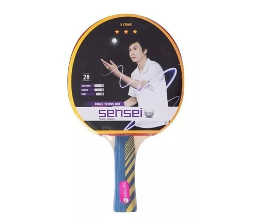 paleta ping pong tenis de mesa sensei 3 estrellas pingpong