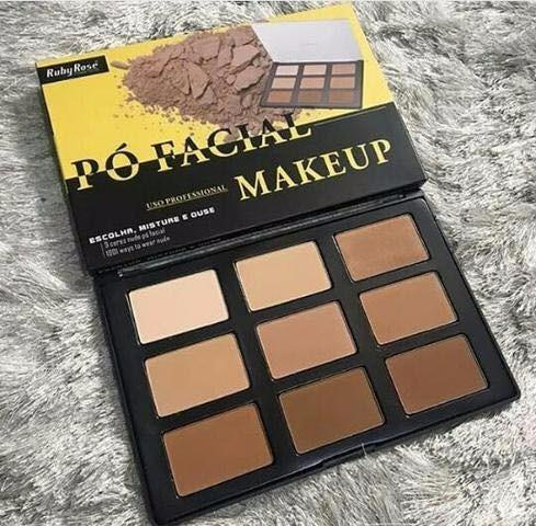 Paleta Pó Facial Makeup Uso Profissional Hb -7208 Ruby