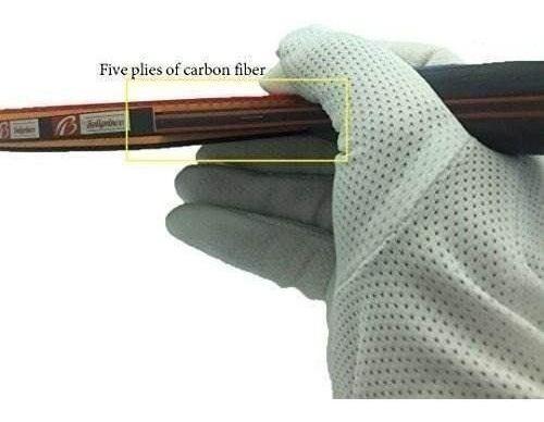 paleta profesional de ping pong boliprince fibra de carbono
