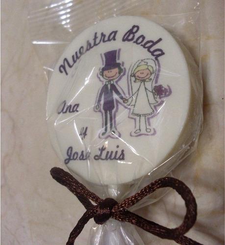 paletas chocolate personalizadas matrimonio cumpleaños fiest