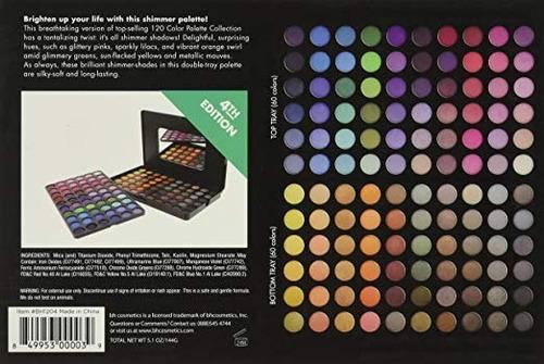paletas de 120 sombras de bhcosmetics version 4 y 5