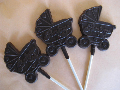 paletas de chocolate baby shower coche
