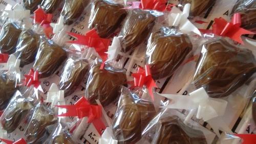 paletas de chocolate  escudo cuadro equipo futbol boca river