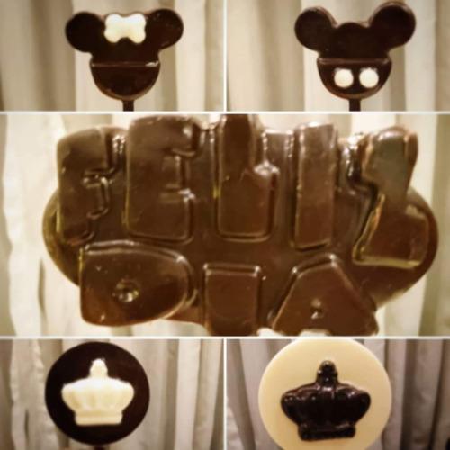 paletas de chocolate murcielago batman  cumpleaños/souvenirs