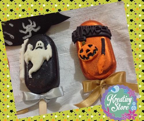 paletas de chocolate para halloween
