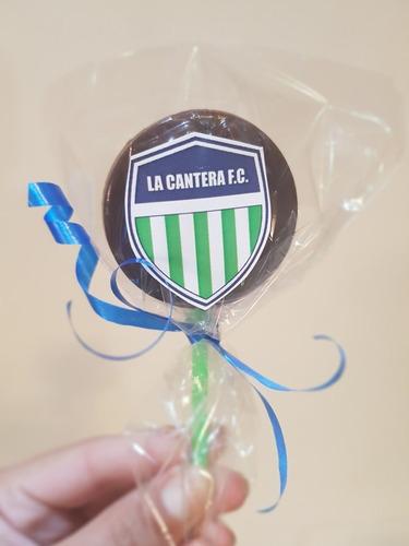 paletas de chocolate para souvenirs personalizables